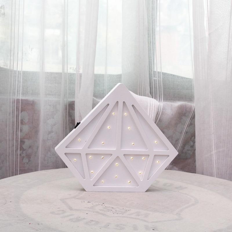 Diamond Nordic Kid's decoración de la habitación LED lámpara de - Iluminación de vacaciones - foto 5