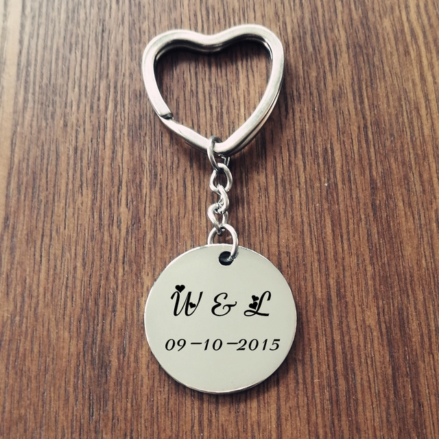 Perfect Custom Name Keychain 316L Stainless Steel Personalized Name Key  QY19