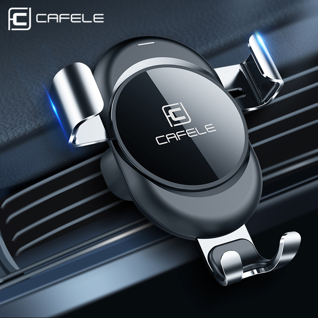 CAFELE Car Phone Holder stand Gravity Automatic Locking Technology Holder in Car Air Vent Car Mount Phone Holder stand