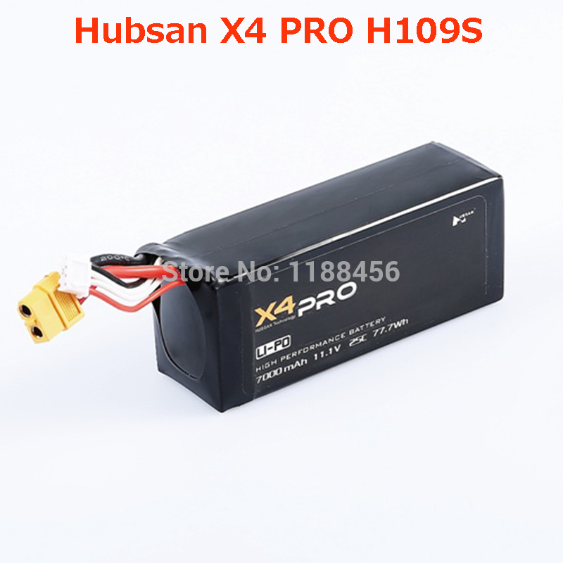 (In Stock) 11.1V 7000mAh Battery for Hubsan X4 PRO H109S Battery RC Drone Spare Parts Accessories hubsan h501s lipo battery 7 4v 2700mah 10c 3pcs batteies with cable for charger hubsan h501c rc quadcopter airplane drone spare
