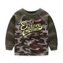 2016 new autumn cotton boys' t – shirts, army green T-shirt fashion children's clothing