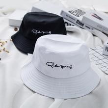Brand Embroidery Letter Bucket Hat Women Men Fashion Bob Caps Hip Hop Caps Unisex Cotton Caps Beach Sun Fishing Bucket Hat