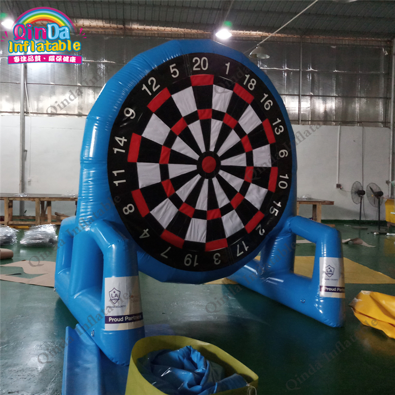 3 Meters Height Double side airtight inflatable football darts sports game, inflatable soccer dart board sport game with 6 balls