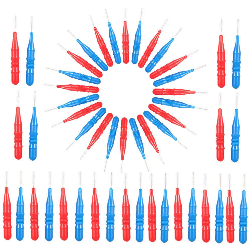 50 pièces fil dentaire hygiène buccale fil dentaire brosse interdentaire souple cure-dents entre les dents brosse dentaire dents nettoyage soins buccaux