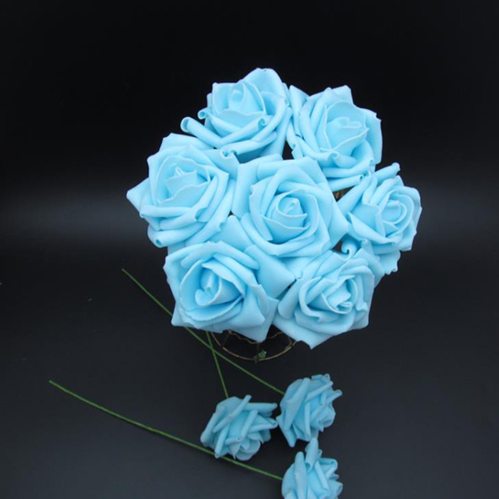 100pcsartificial flowers royal blue roses for bridal bouquet 100pcsartificial flowers royal blue roses for bridal bouquet wedding bouquet wedding decor arrangement centerpiece in wedding bouquets from weddings izmirmasajfo Images