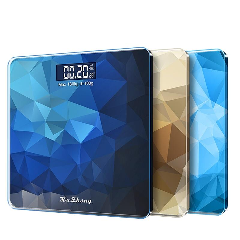 Adeeing Digital Body Weight Scale Precision household Bathroom Weighing Machine LED Backlight Display