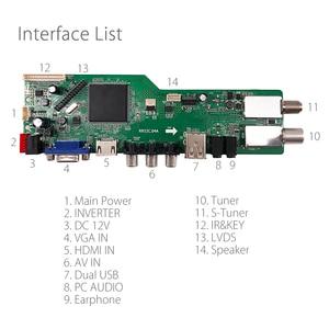 Image 2 - Media doppio del gioco di USB del bordo di Driver dellaffissione a cristalli liquidi universale DVB S2/T ATV del DVB C del segnale di Digital di sostegno del gioco di 5 OSD