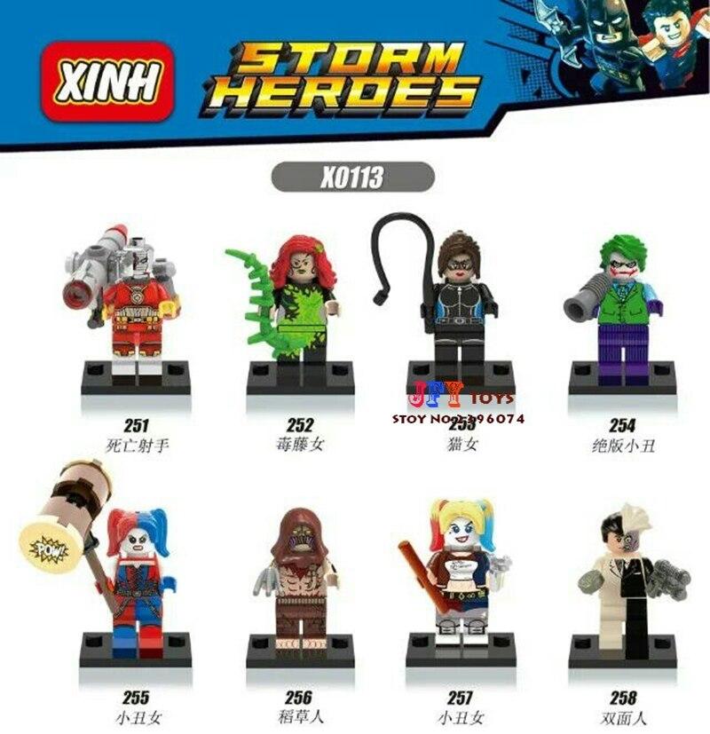 80pcs starwars superhero Suicide Squad Harley Quinn Joker DC building blocks bricks friends for games children toys iluminador