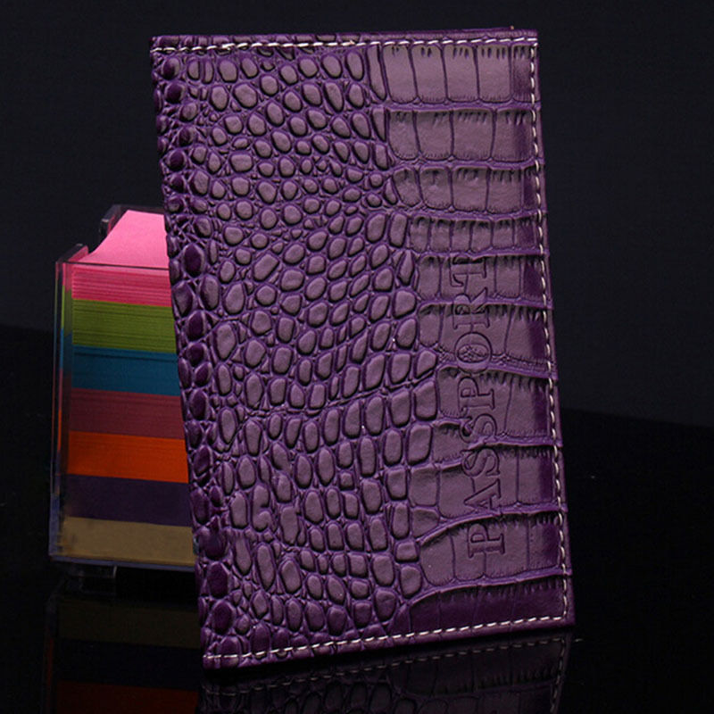 ISKYBOB Travel Passport Holder Business Card Holder Women PU Leather ...