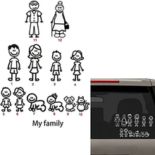 My Family Cartoon JDM Car Stickers and Decals Vinyl Sticker For Accessories Fashion Decorative 5*127cm
