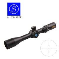 Shooter 4-16X44 FFP Celowniki Polowania Airsoft Optyczny Vision Taktyki Zakresów Snajper Siatka Powietrza Mira Holograficzne Reflex Widok