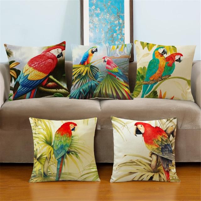 Animale uccello copertura della cassa del cuscino for Oggetto per la casa