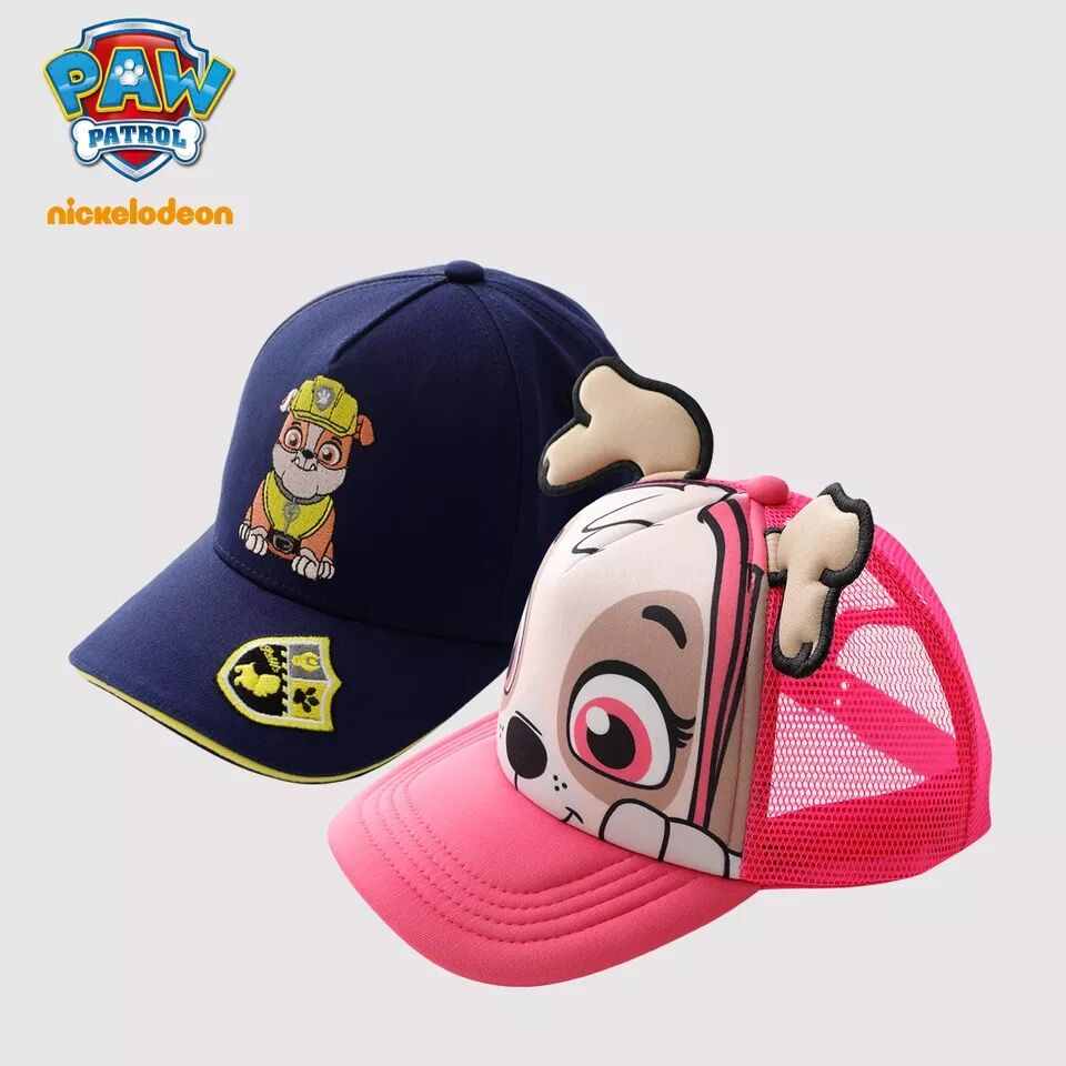 paw patrol pack of 2 baseball caps age 2 to 4 years brand new with tags