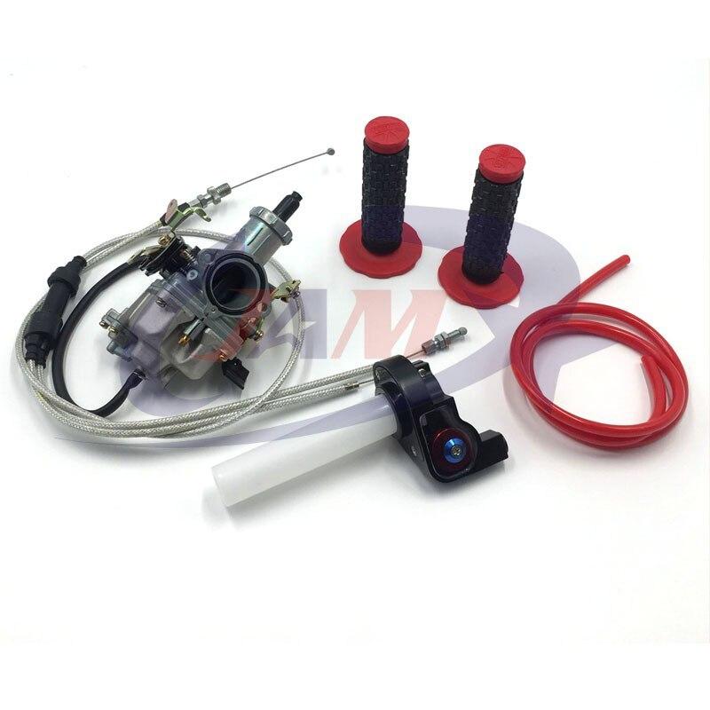 Pompe d'accélération de Jet de puissance de carburateur de la haute Performance KEIHIN PZ30 30mm + Twister Visiable d'accélérateur + double câble IRBIS + poignées