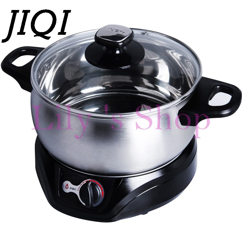 Multifunctional electric cooker noodles stainless steel mini Soup hot pot electric small Instant noodles hotpot pan for students the electric cooker hot pot mini multifunctional electric cooker electric dorm boiler electric frying pan pot noodle pot room