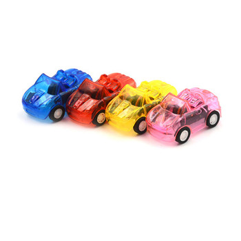 1Pc 5*3*2 cm Great Pull Back Car Plastic Cute Toy Cars For Child Wheels Mini Car Model Kids Toys For Boys Candy Color Best Gift image