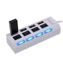 Mini High Speed USB 2 0 Hub 4 Ports Portable USB Hub 480 Mbps On Off
