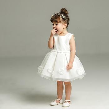 db04b7aaa Nuevo Bebé-8y vestido blanco para el bautismo niña sin mangas Encaje  bautizo vestido niño fiesta de cumpleaños infantil desgaste