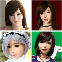 Cosdoll New Realistic Japanese Silicone Sex Doll Head for Lifelike Sex Doll, Real Dolls Head,Oral Sex, with Free Eyes Wigs