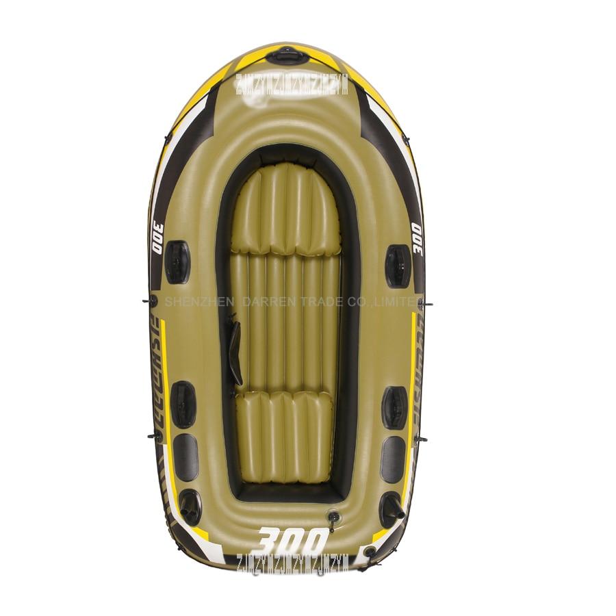 2 person barn oppustelig fiskerbåd PVC Robåde Både vægt 190KG, inkluderer to sæder + et par årer + håndpumpe PVC