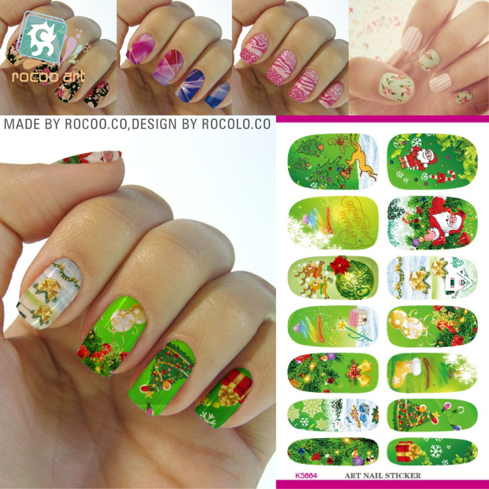 Water transfer print film nail art sticker sticker merry christmastrees cartoon snowflake nail wraps sticker manicure decals