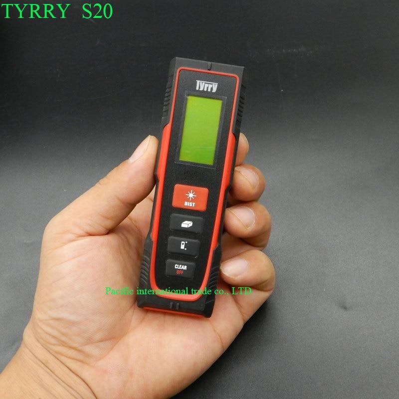 Distance Meter 20M  Rangefinder Range Finder Tape Measure Area/Volume Digital Laser Distance Meter TYRRY S20