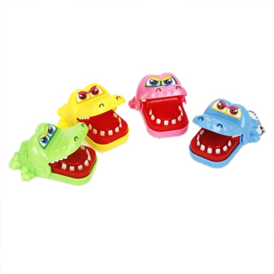 New Crocodile Mouth Dentist Bite Game Toy with Keychain image