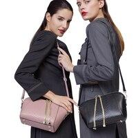HOT ZOOLER Genuine Leather Bag Brands Women Bag 2016 New Serpentine Pattern Women Shoulder Bag Cowhide