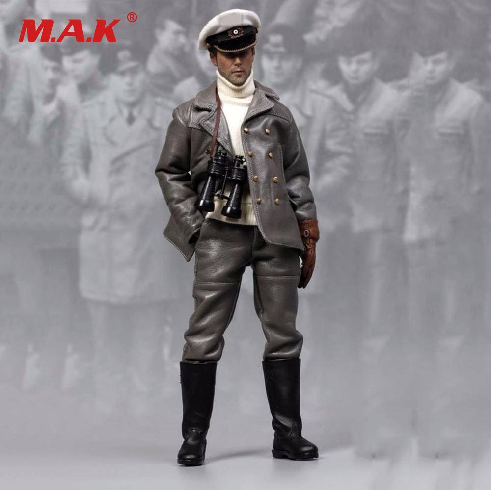 Collectible 1/6 Scale WWII Soldier Figure U-Boat Captian Man Doll 1/6 Scale Action Figure Doll Toys For collection 1 6 scale nude male body figure muscle man soldier model toys for 12 action figure doll accessories