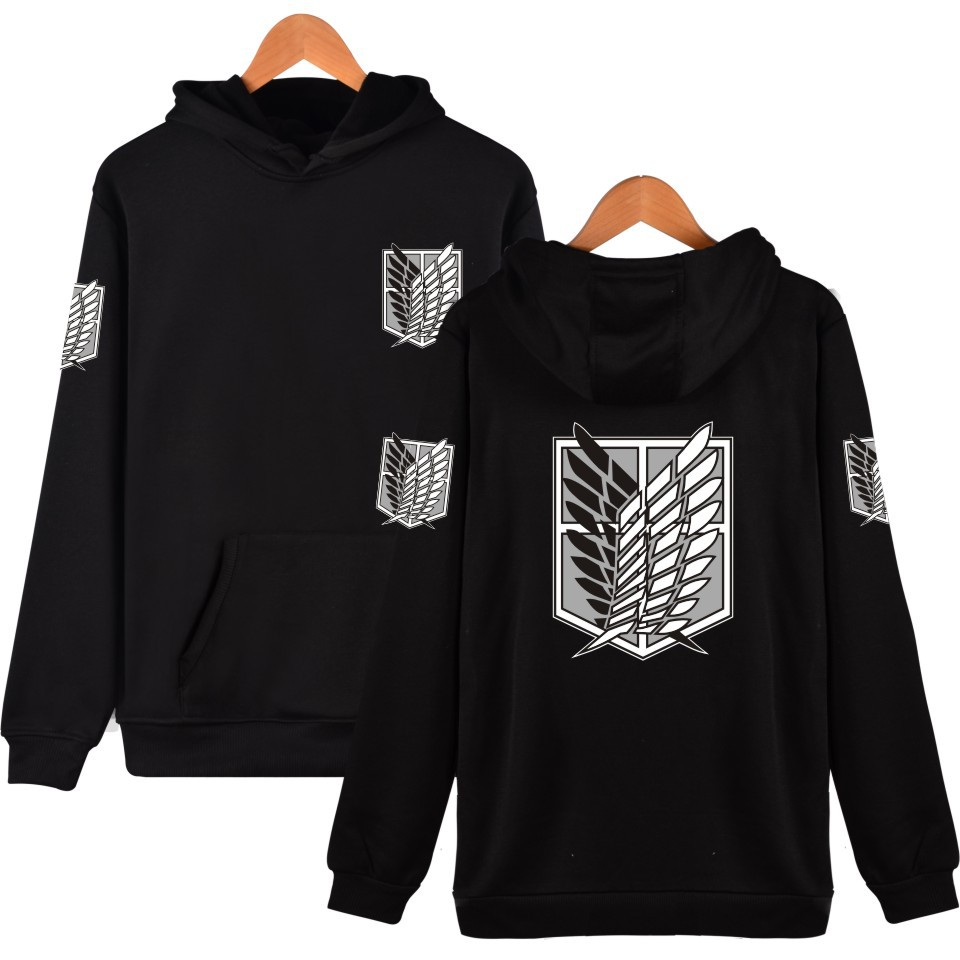 Attack on Titan mens Hoodie anime Harajuku Pullover streetwear hoody Sweatshirt plus size tops casual Hoodies and Sweatshirts