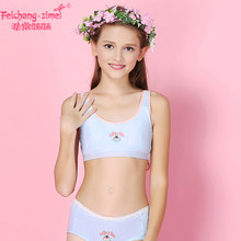 e3d3a4c356ae New Arrival Feichangzimei Teenage Girl Underwear Girls Bra And Panties  Cotton Gray/Blue AA Cup Training Bra Set -100150S. US $10.21 / piece Free  Shipping