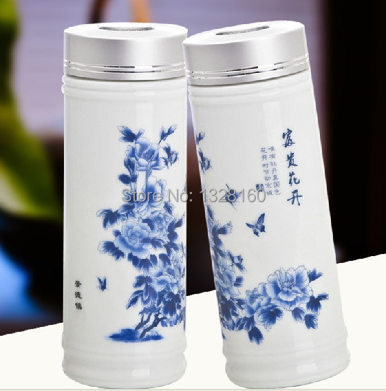 4c2e02c386 Bone china stainless steel porcelain thermos mug / ceramic water cup / travel  bottle / thermal sports vacuum flask free shipping