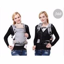 Четыре позиции 360 Baby Carrier Многофункциональный дышащий младенческой Перевозчик Рюкзак Малыш перевозчика малышей слинг Обёрточная бумага по...