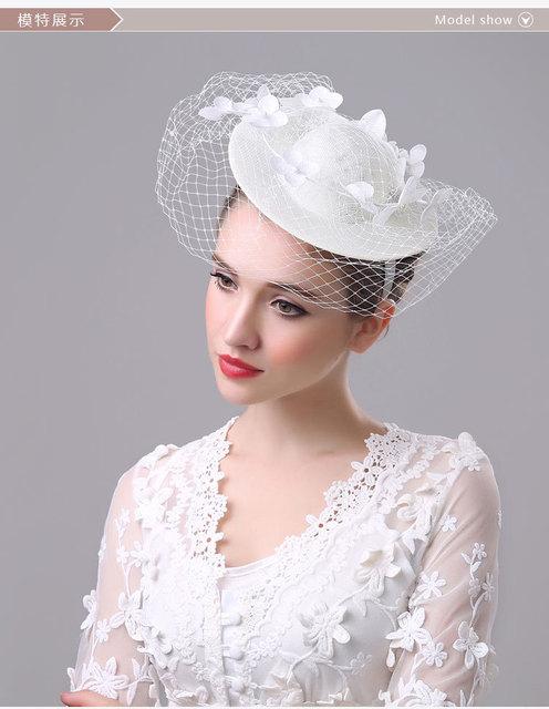 2017 Vintage Wedding Hat Nupcial Birdcage Veil Acessórios Do Casamento Acessório Do Cabelo