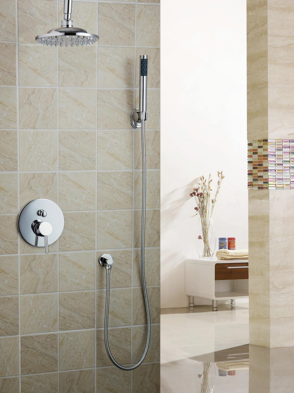 Bathroom Mixer Valve 8 Square Rain Handheld Shower Head Set Shower Set Torneira 50239-22A Bathtub Chrome Sink Faucet Mixer Tap shower faucets chrome silver wall mount bathroom faucet set rainfall square big shower head handheld valve bath mixer tap yb 608