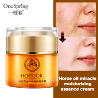 Horse Oil Moisturizing Face Cream Remove Age Spot Scar Pigment Whitening Anti Wrinkle Cream Beauty Miracle