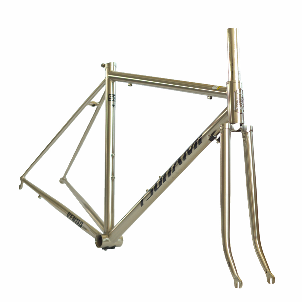 TSUNAMI Venus Road bike Reynolds 520 <font><b>Frame</b></font> Fork with 4130 Chrome <font><b>Steel</b></font> 700C Classic Frameset <font><b>Bicycle</b></font> Parts image
