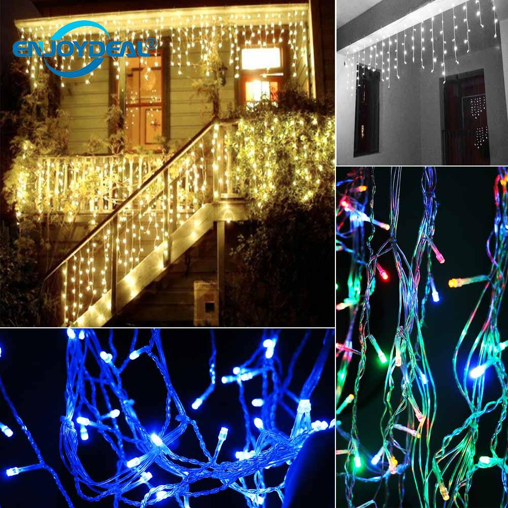 Waterproof <font><b>5M</b></font> <font><b>216</b></font> <font><b>LED</b></font> light strip Fairy Icicle String Light Christmas Party Decoration Holiday Curtain Light image