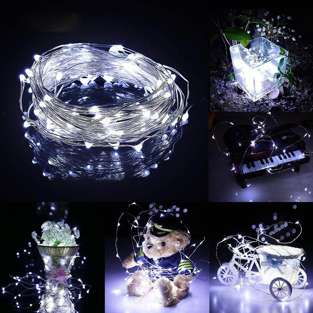 Brand New LED Submersible Waterproof Fairy Light Copper Wire String Lights Base Lamp Home Patry Decoration