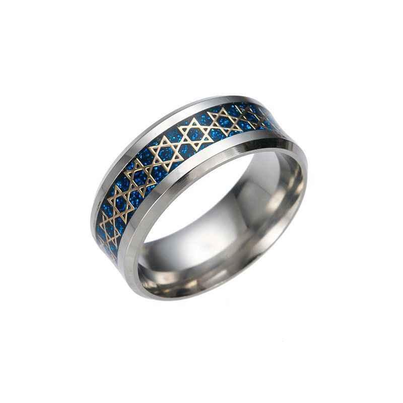 2019 véritable Anel anneaux Chandler Original David anneau pentagramme acier inoxydable Unique religieux hommes fête bijoux Cartel Anillos