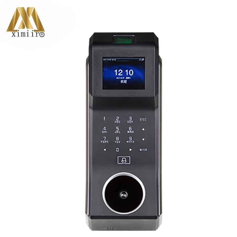 Zk palm sistema de controle acesso fingerprint porta controlador acesso f30 com 2.4 polegada TFT LCD tela comparecimento do tempo   - title=