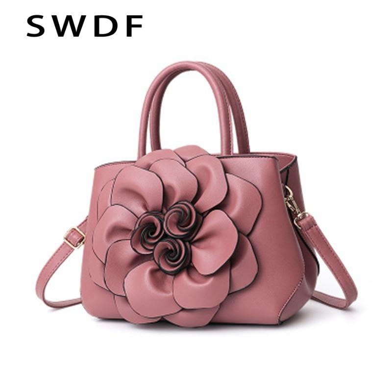 New Ladies Handbags Women's Brand Designer Three-Dimensional Flower Shoulder Bag Ladies Messenger Bag Rivet Open Pocket Clutch