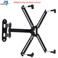 Adjustable TV Wall Mount Full Motion LCD Monitor Bracket Swivel Tilt TV Holder Screen Bracket Adaptor for NO VESA Hole Screen