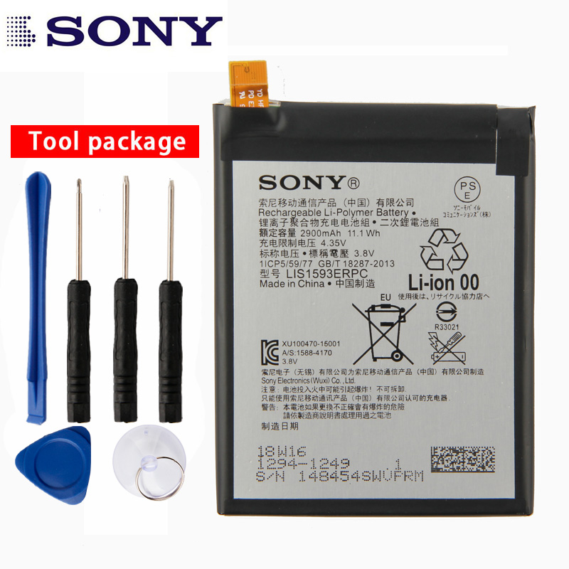 Original Sony High Capacity Phone Battery For Sony Xperia Z5 E6633 E6683 E6603 E6653 2900mAh
