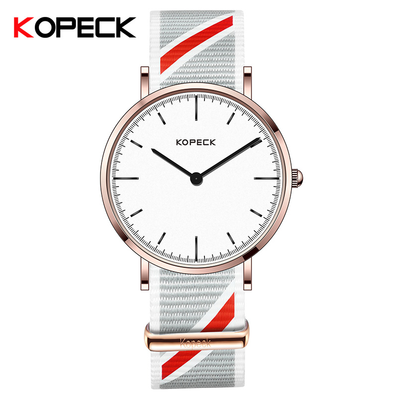 KOPECK Women Watches Brand Fashion Nylon Quartz-Watch Women's Wristwatch Clock Relojes Mujer Ladies Watch Business Montre Femme relojes mujer quartz wristwatch 2016 new fashion brand watches men metal mesh stainless steel watch women unisex casual clock