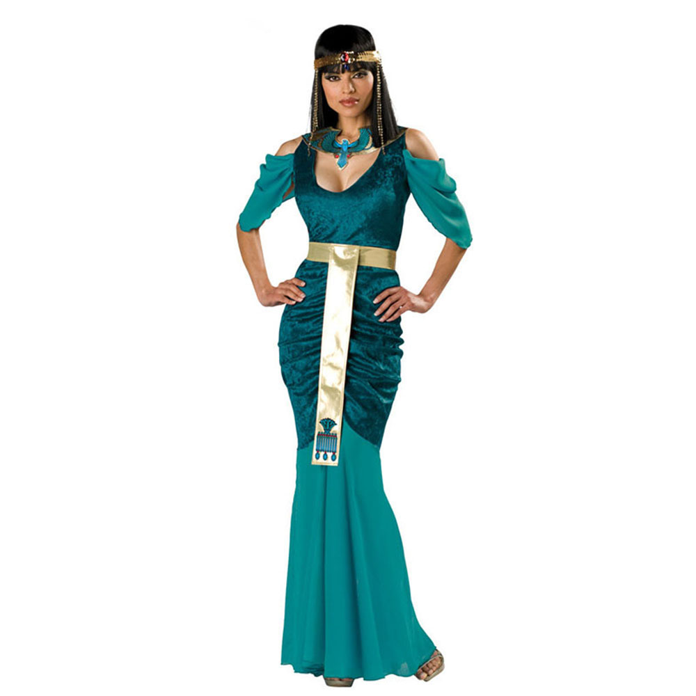 Ladies Halloween Party Egyptian Cleopatra Costumes Women Fantasia Egypt Queen Costume Cosplay Carnival Fancy Dress Up Outfit thumbnail
