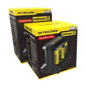 """Image 5 - Nitecore i8 חדש i4 i2 Intelligent מטען 8 חריצים סה""""כ 4A פלט חכם מטען עבור ליתיום 18650 16340 10440 AA AAA 14500 26650"""