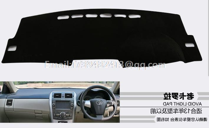 for Toyota Corolla Axio E140 E150 2007 2008 2009 2010 2011 2013 2012 dashmats car-styling accessories dashboard cover RHD