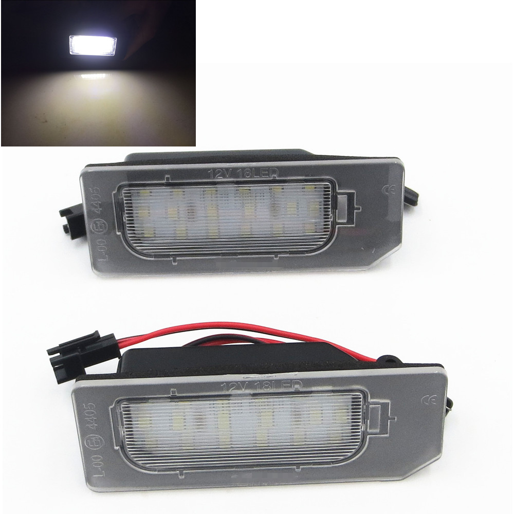 CYAN SOIL BAY 2pcs Error Free SMD License Plate LED Light lamp for Mitsubishi ASX cyan soil bay 9led 5630 smd festoon c5w