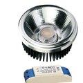 Чистый алюминий  технология ковки макс 2000 лм! 25 вт высокий потолок/пространство AR111 высокий CRI COB точечный свет 15/30 угол луча